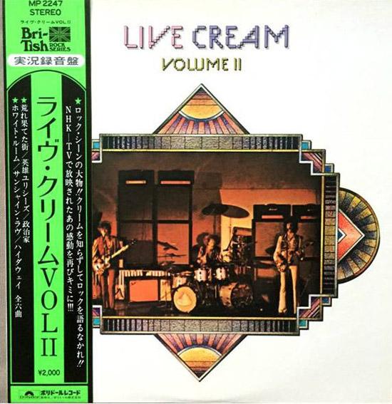 """Cream - Live Cream Volume II; 12"""" LP"""